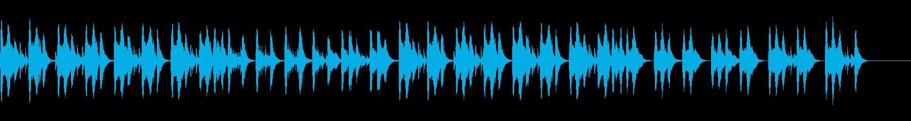 不安や心配を感じさせるオルゴール曲の再生済みの波形