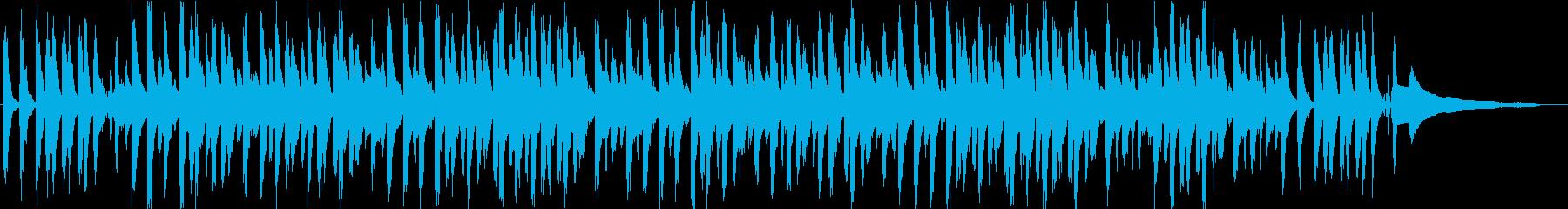 明るくほのぼの、穏やかなBGMの再生済みの波形