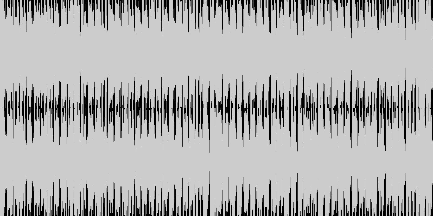 ジングルベル スキャット入り1 ループの未再生の波形
