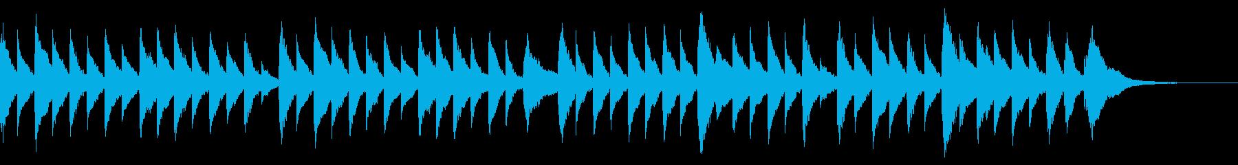 童謡オルゴール 春の小川 の再生済みの波形