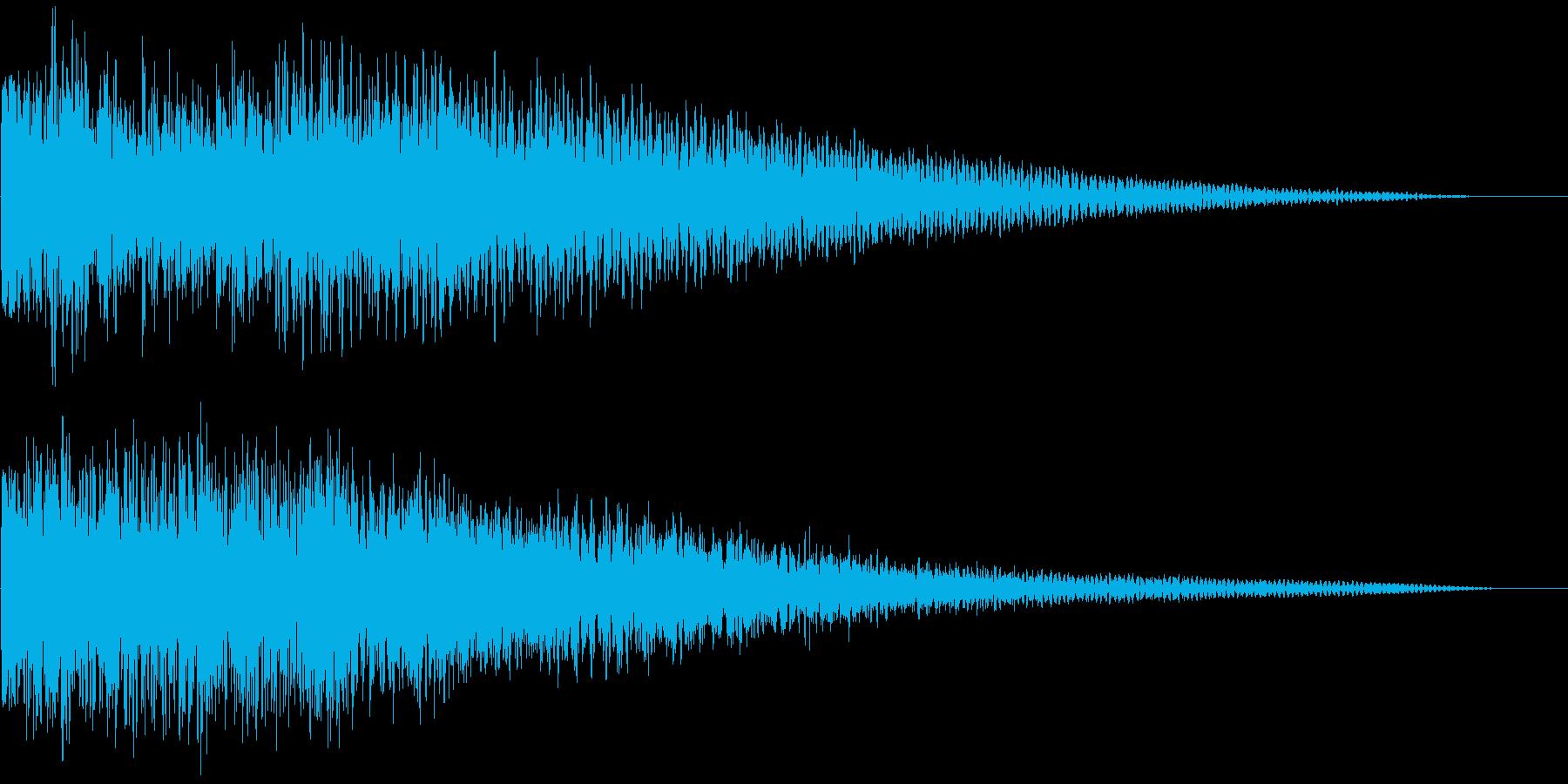 【ゲーム演出】衝撃音 ズドーンッ!の再生済みの波形