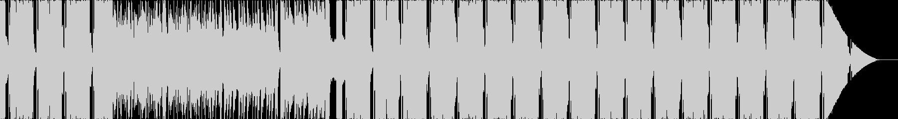 ポジティブな雰囲気のエレクトロ楽曲の未再生の波形