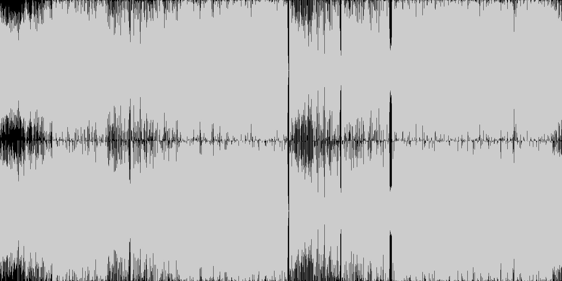 ループ■きらめき跳ねるテクノポップの未再生の波形