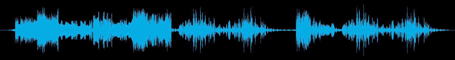 低ノイズカットトランジションの再生済みの波形