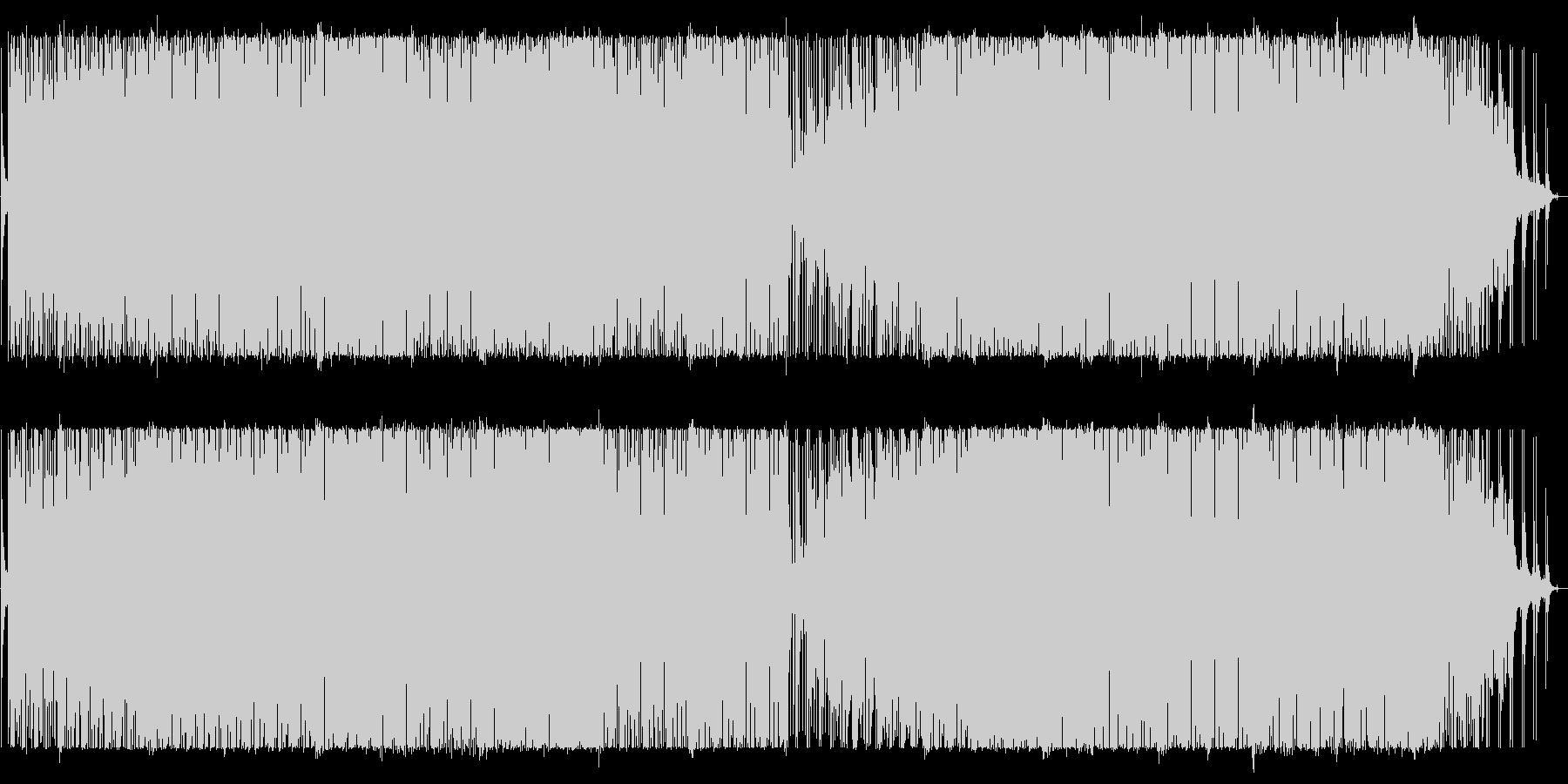 シンセとパーカッションのグルーブ・ハウスの未再生の波形