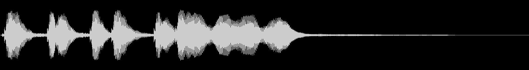 たぅんたぅんたたーたたーんの未再生の波形