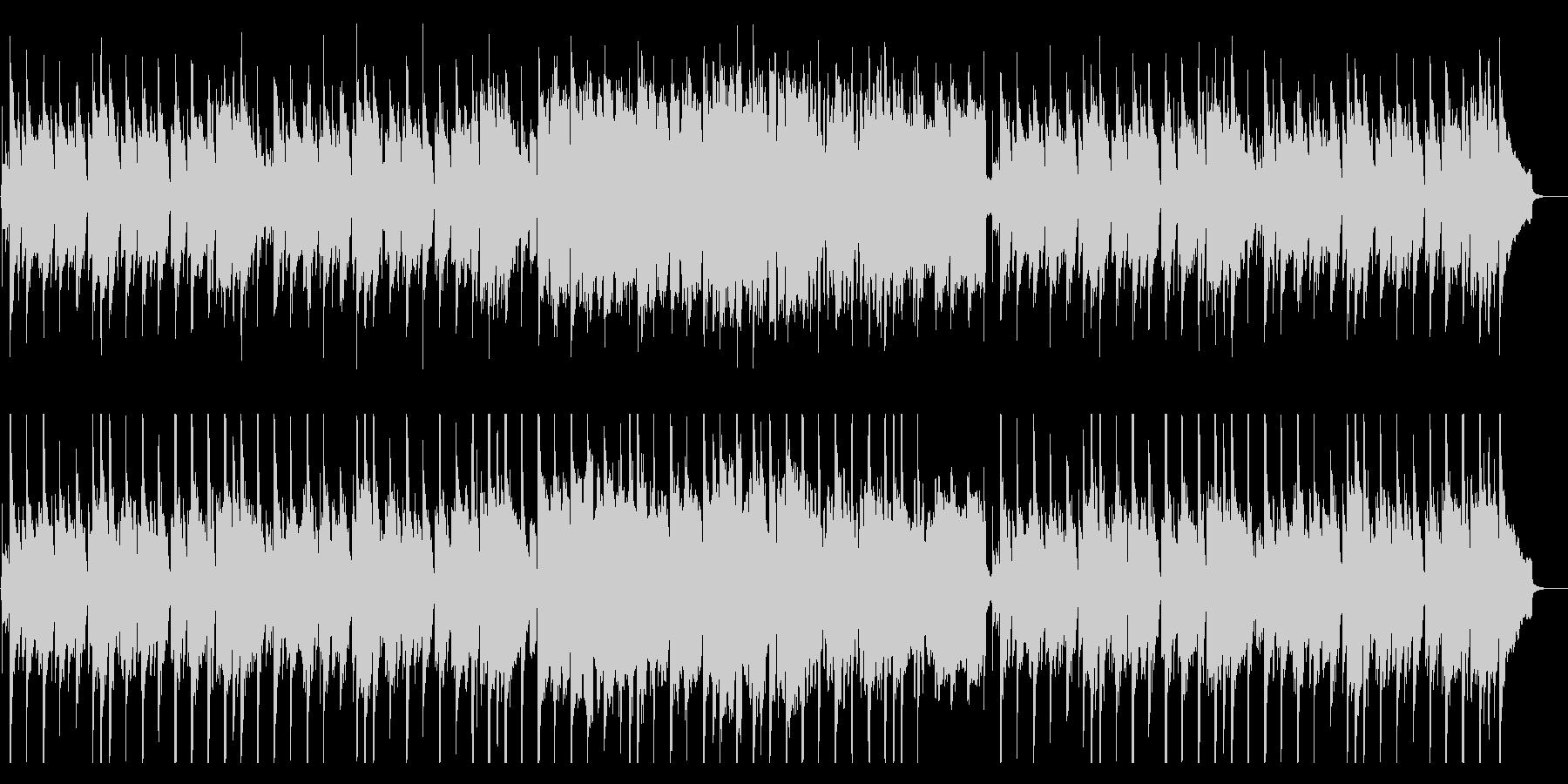 定番の穏やかな和風BGMの未再生の波形