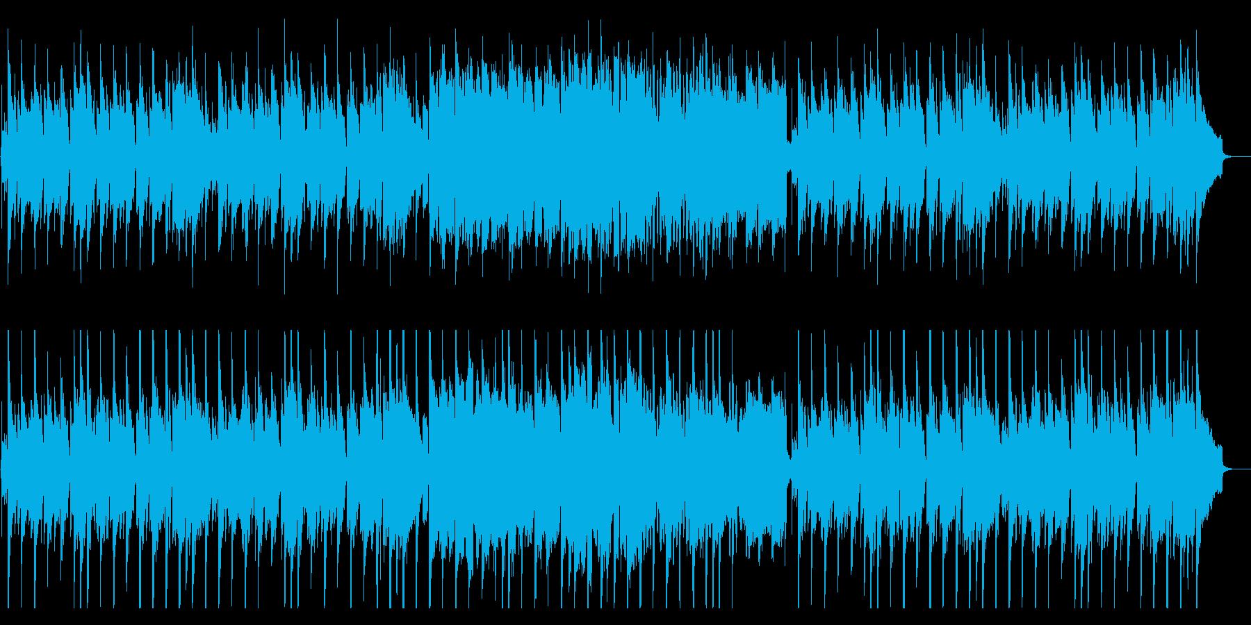 定番の穏やかな和風BGMの再生済みの波形