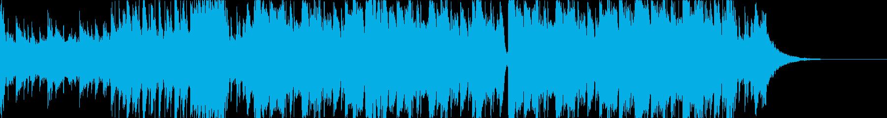 ダブステップなジングルの再生済みの波形
