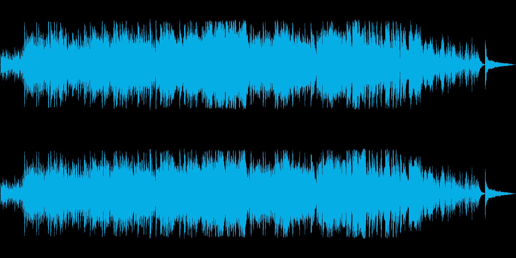 軽やかで澄んだ音色のピアノの旋律の再生済みの波形