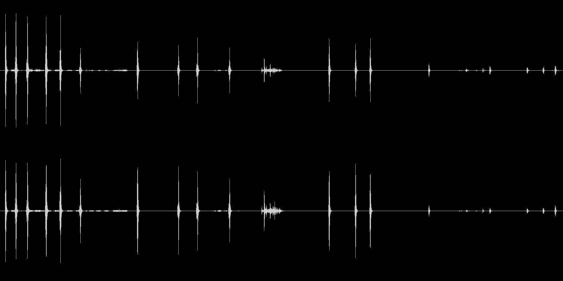 alの中のハヤブサのチャープと羽ばたきの未再生の波形