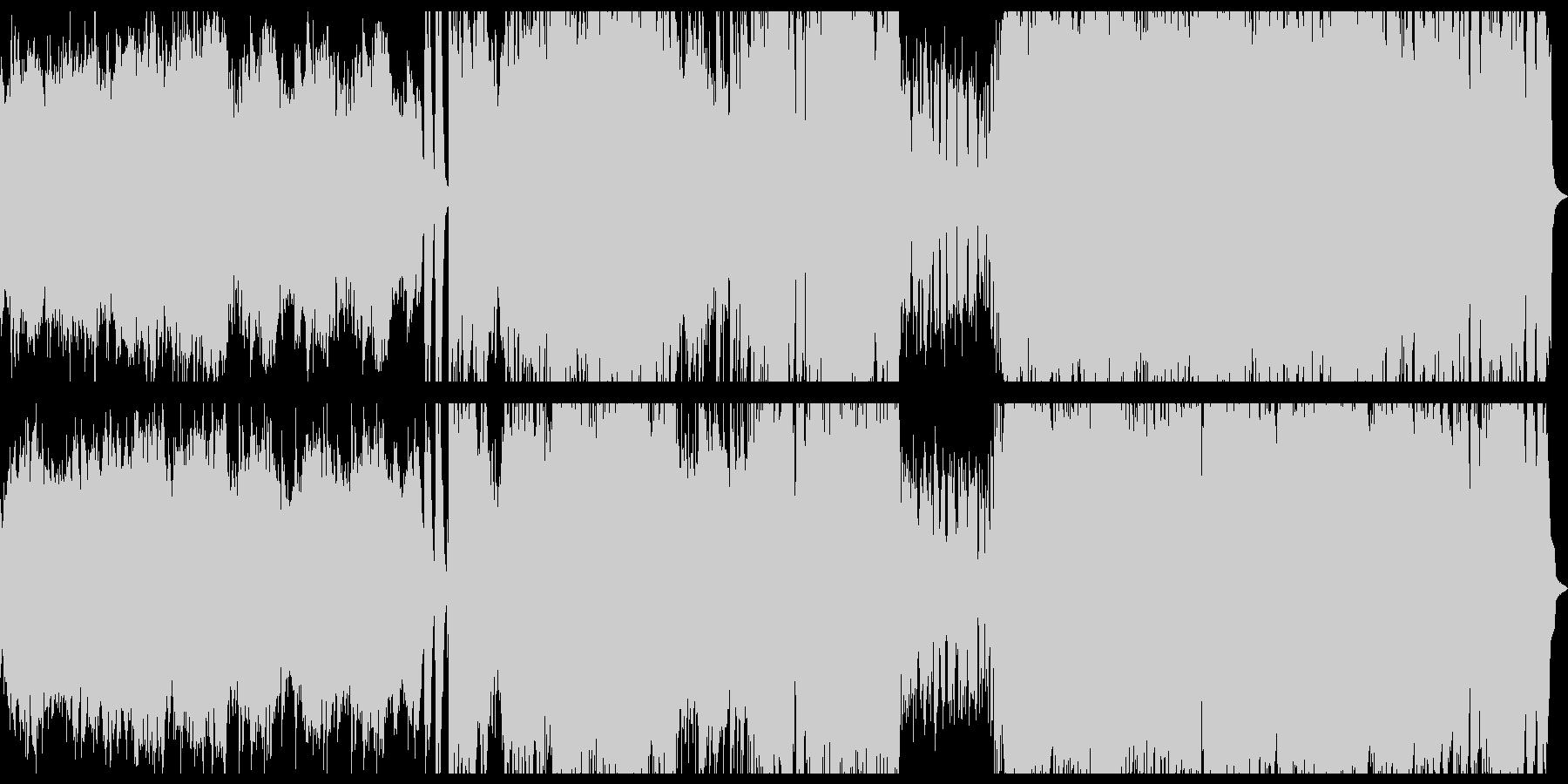 ストリングスとギターのロック系アニソンの未再生の波形