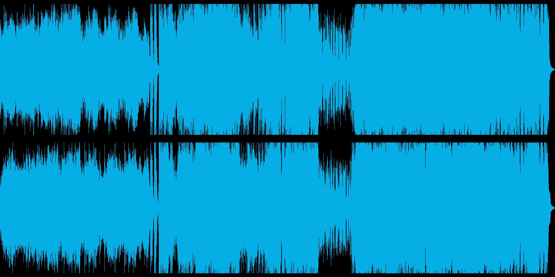 ストリングスとギターのロック系アニソンの再生済みの波形