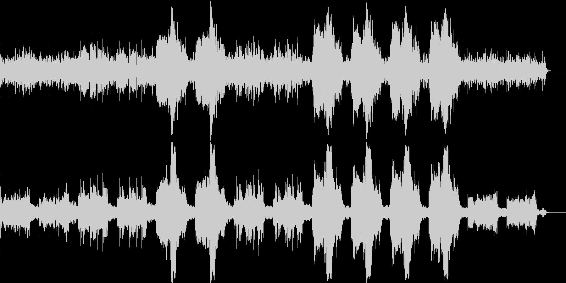 幻想的で美しいリラクゼーション曲の未再生の波形