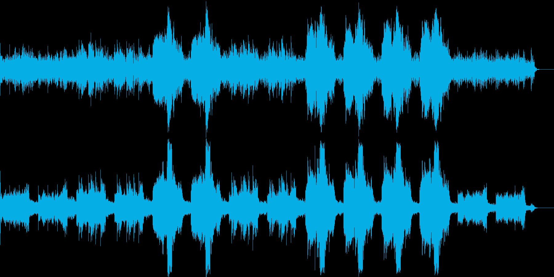 幻想的で美しいリラクゼーション曲の再生済みの波形