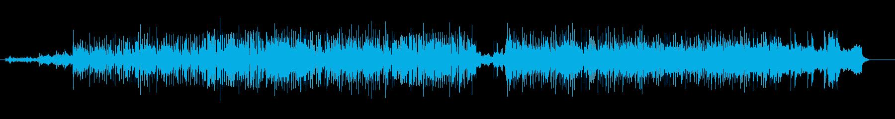 壮快なフュージョンの再生済みの波形