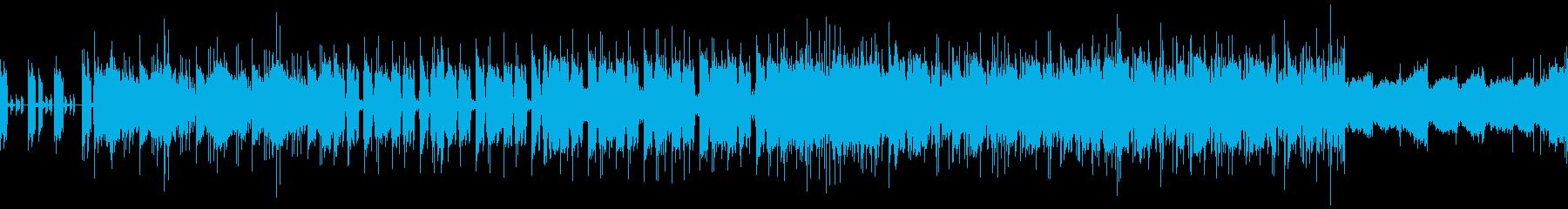 ヒールレスラーがリングに登場するロックの再生済みの波形