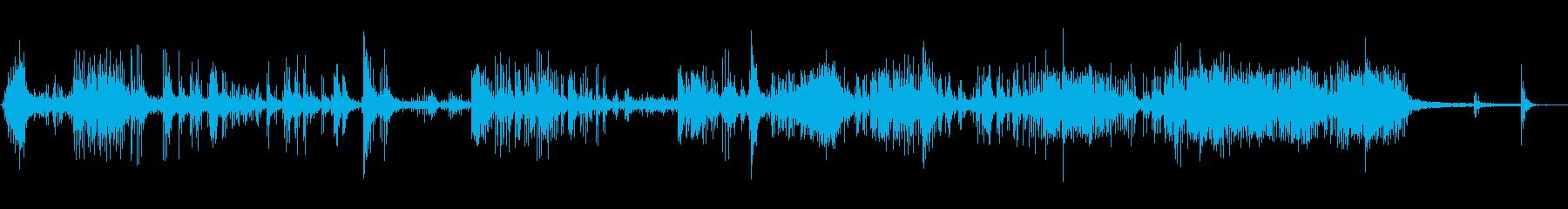 花火4爆竹の再生済みの波形