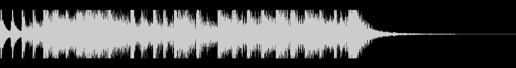 和+ロックのインパクトのあるジングルの未再生の波形
