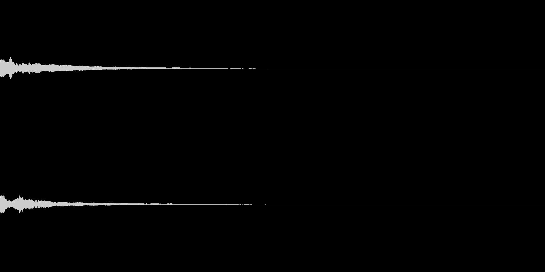 チリーン(鈴・鐘の鳴る音)の未再生の波形