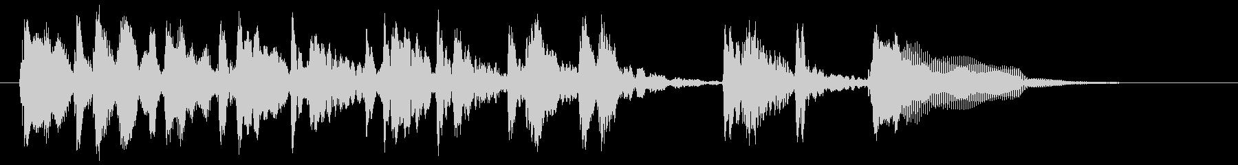ウッドベースによるダンディなサウンドロゴの未再生の波形