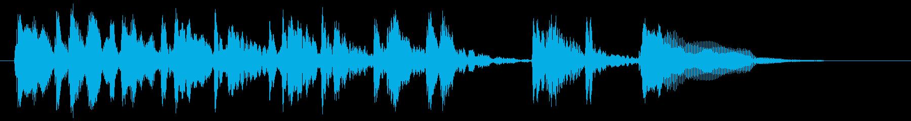 ウッドベースによるダンディなサウンドロゴの再生済みの波形