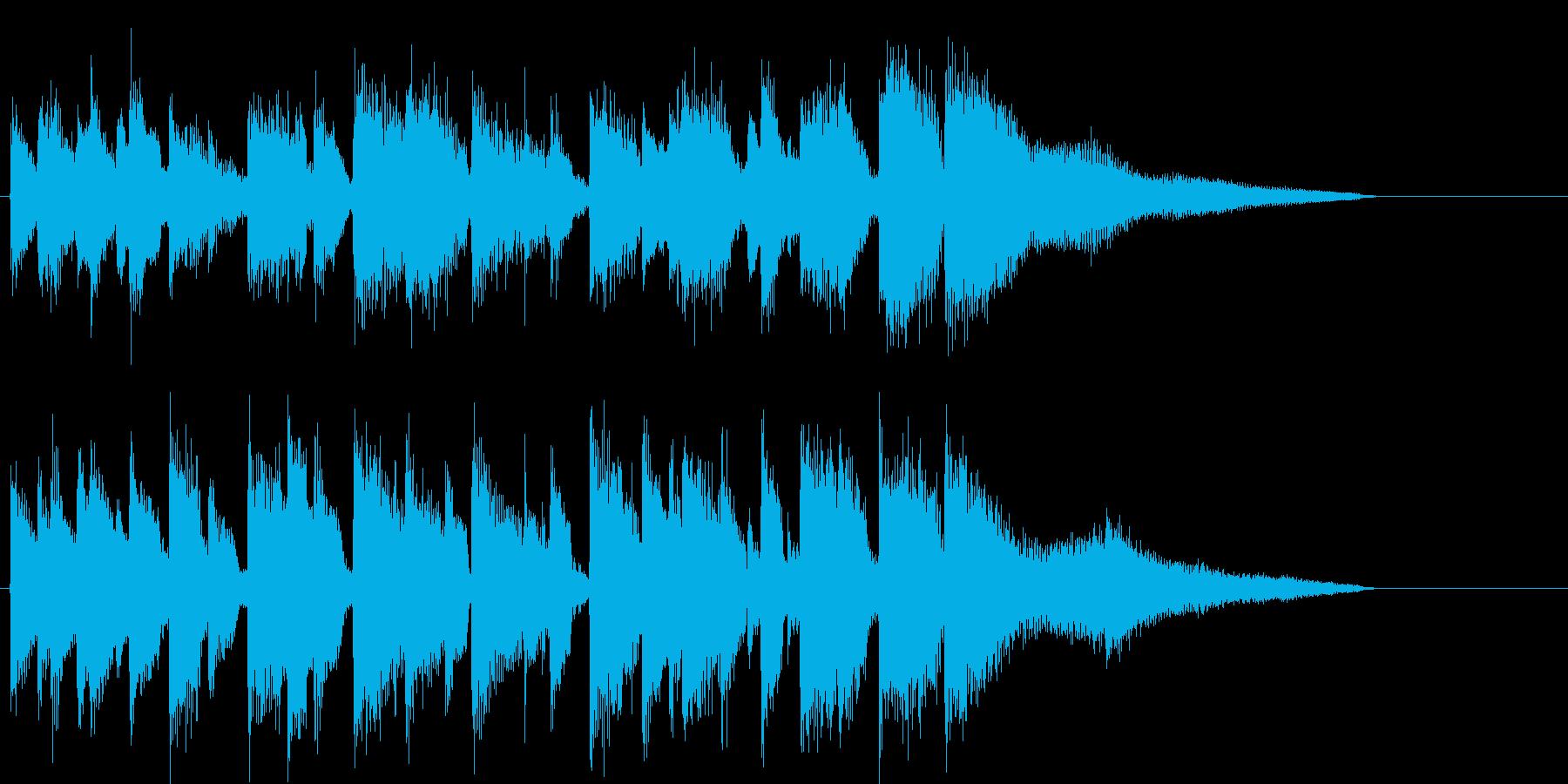 ピアノのアダルトなジャズジングルの再生済みの波形