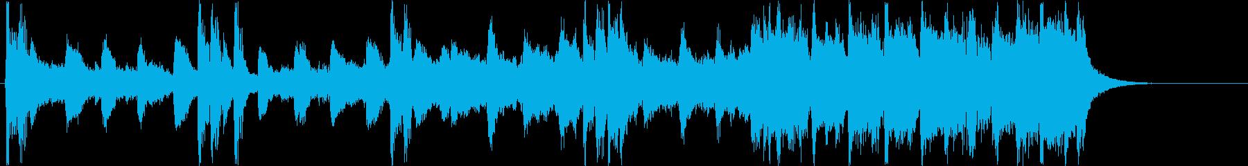 チャイナ風シンセサイザー短めサウンドの再生済みの波形