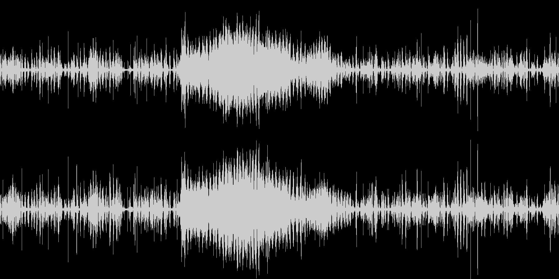 ウシガエルの大合唱の未再生の波形