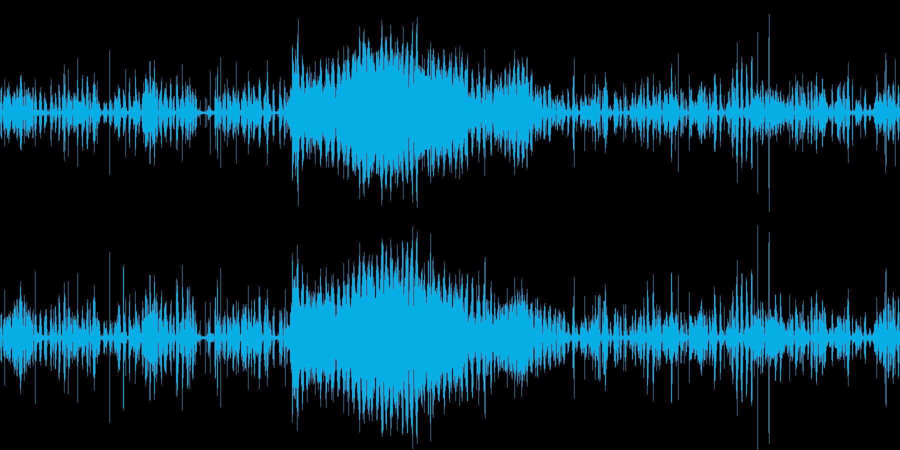 ウシガエルの大合唱の再生済みの波形
