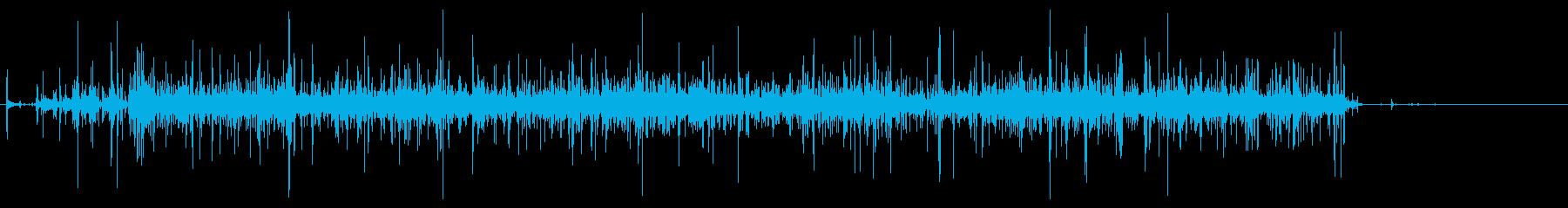 手挽きコーヒーミル 挽く音 長いの再生済みの波形