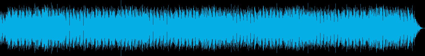 グルーヴを感じる80年代風のBGMの再生済みの波形