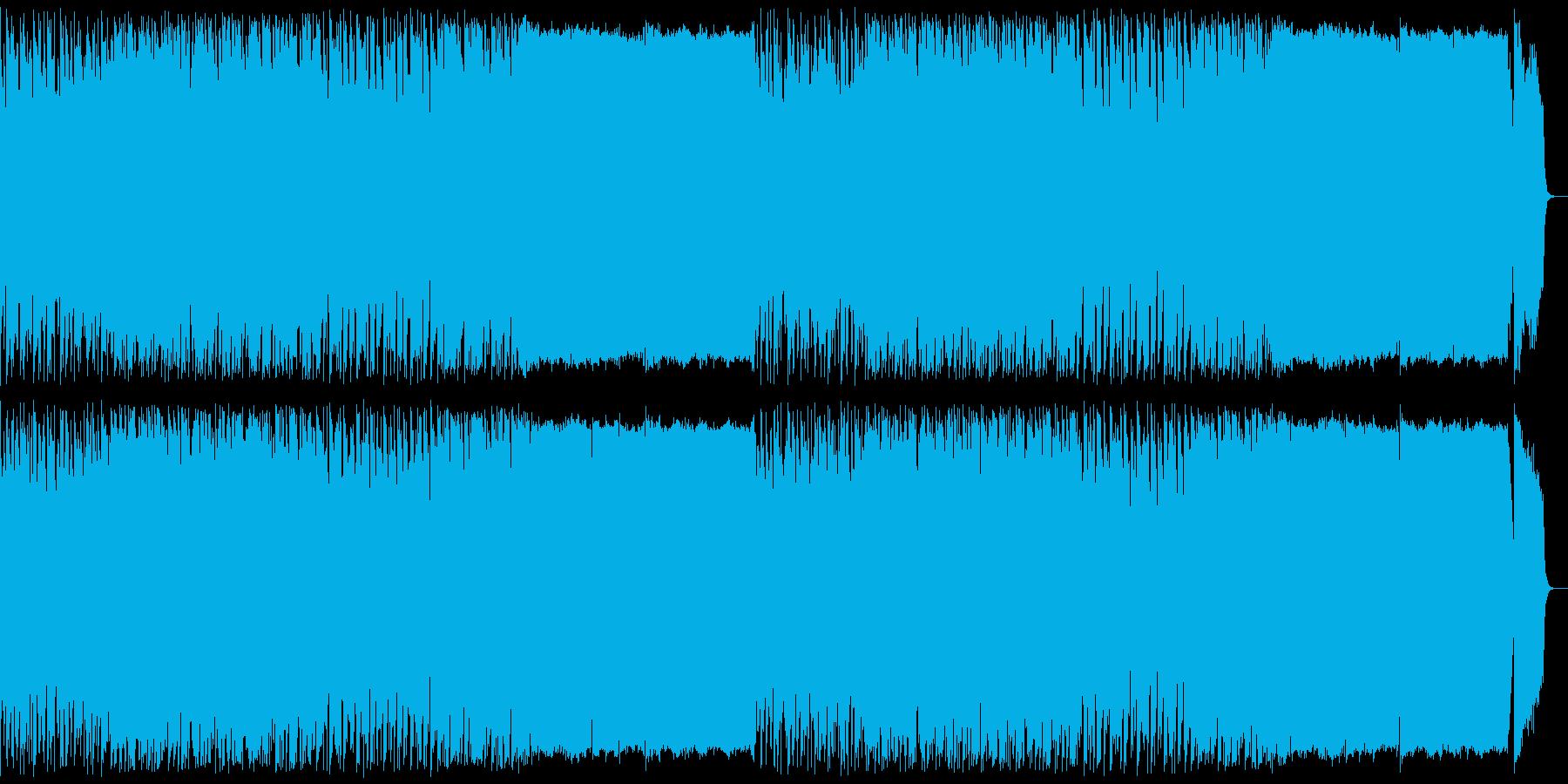 ダークファンタジー風デジタルオーケストラの再生済みの波形