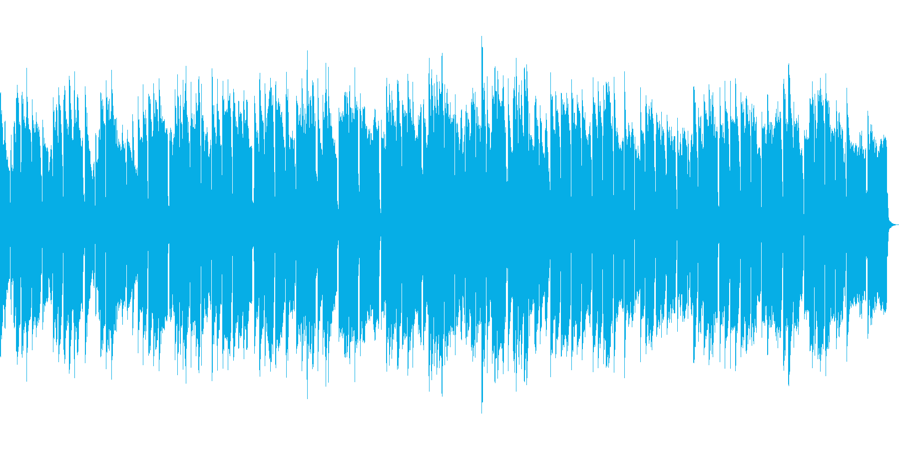 ほのぼのとしたオルゴールの再生済みの波形