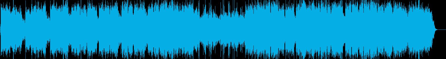 ケーナとピアノの優しい音楽の再生済みの波形