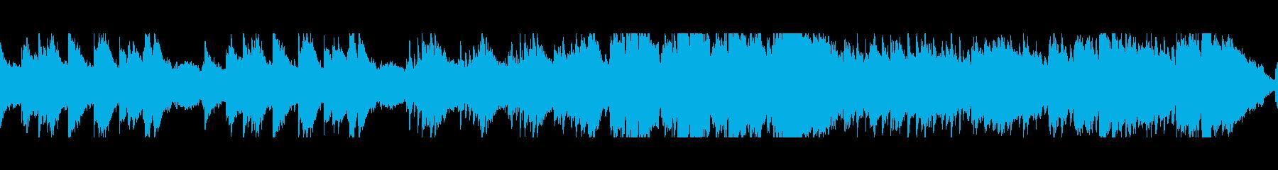 穏やかなケルト曲(ループ)の再生済みの波形