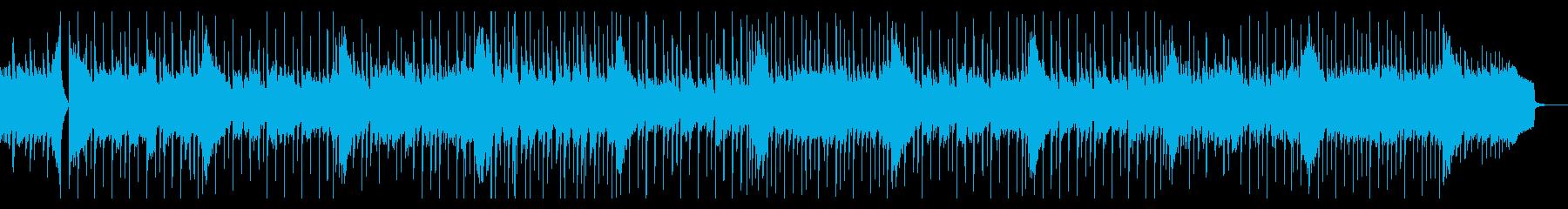 優しくもの悲しい雰囲気のBGMの再生済みの波形