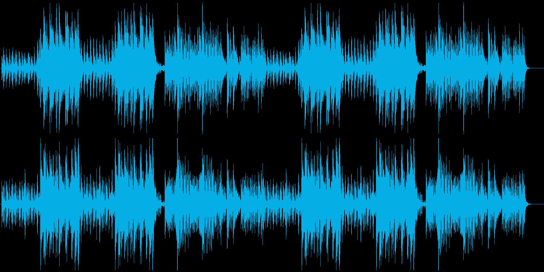 【飲料水等CM】素朴で清潔感のある曲の再生済みの波形