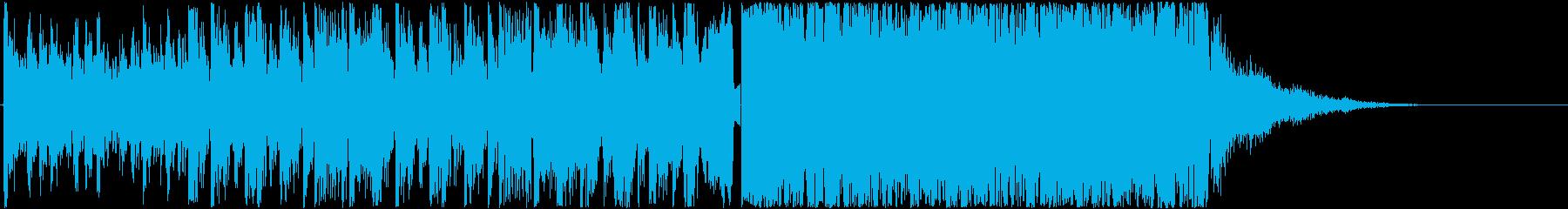 攻撃的で疾走感あるエレクトロの再生済みの波形