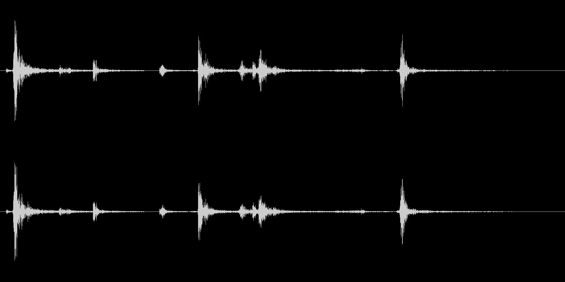 【生録音】パッケージ 開封音 8の未再生の波形