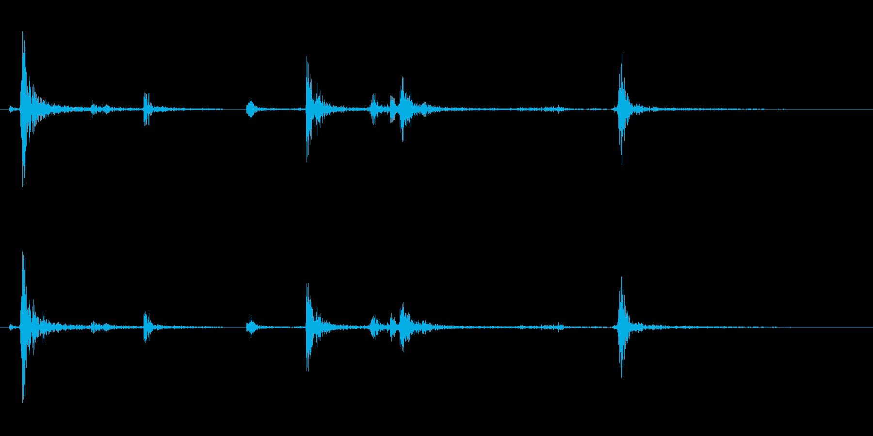 【生録音】パッケージ 開封音 8の再生済みの波形