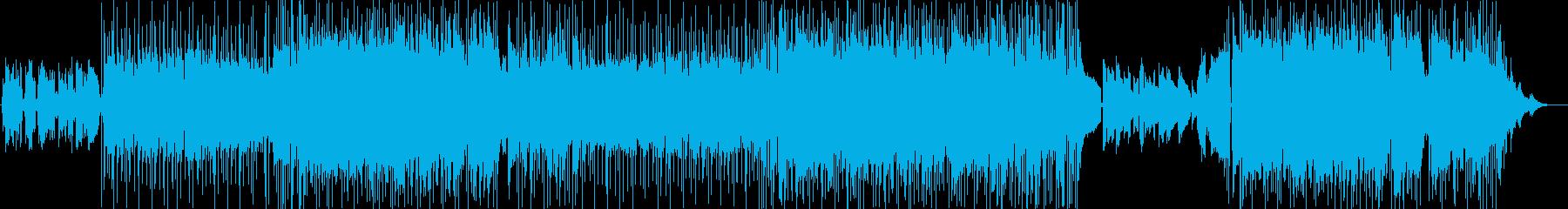 オーロラを見る旅に出た二人の物語の再生済みの波形