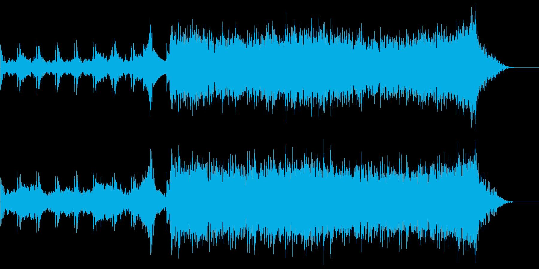ハリウッド系映画トレーラー音楽風BGMの再生済みの波形