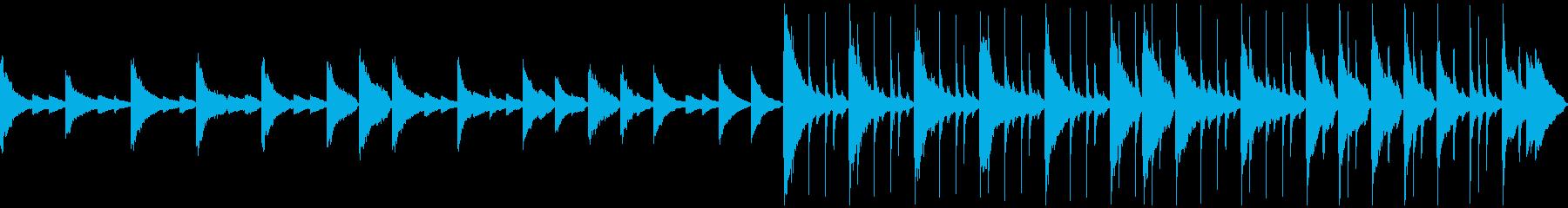 ピアノ主体メロディ無し優しいバラード短めの再生済みの波形