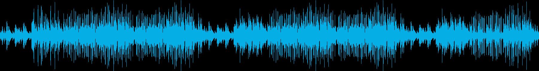ピアノ・お洒落・カフェ・レトロ・ループの再生済みの波形