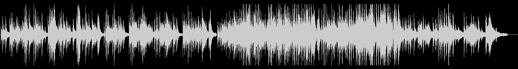ピアノソロ ダニーボーイの未再生の波形