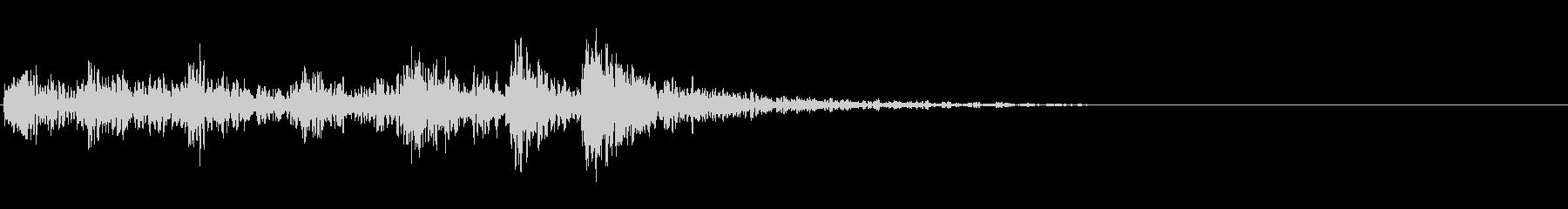 勢いのある和太鼓のジングル の未再生の波形