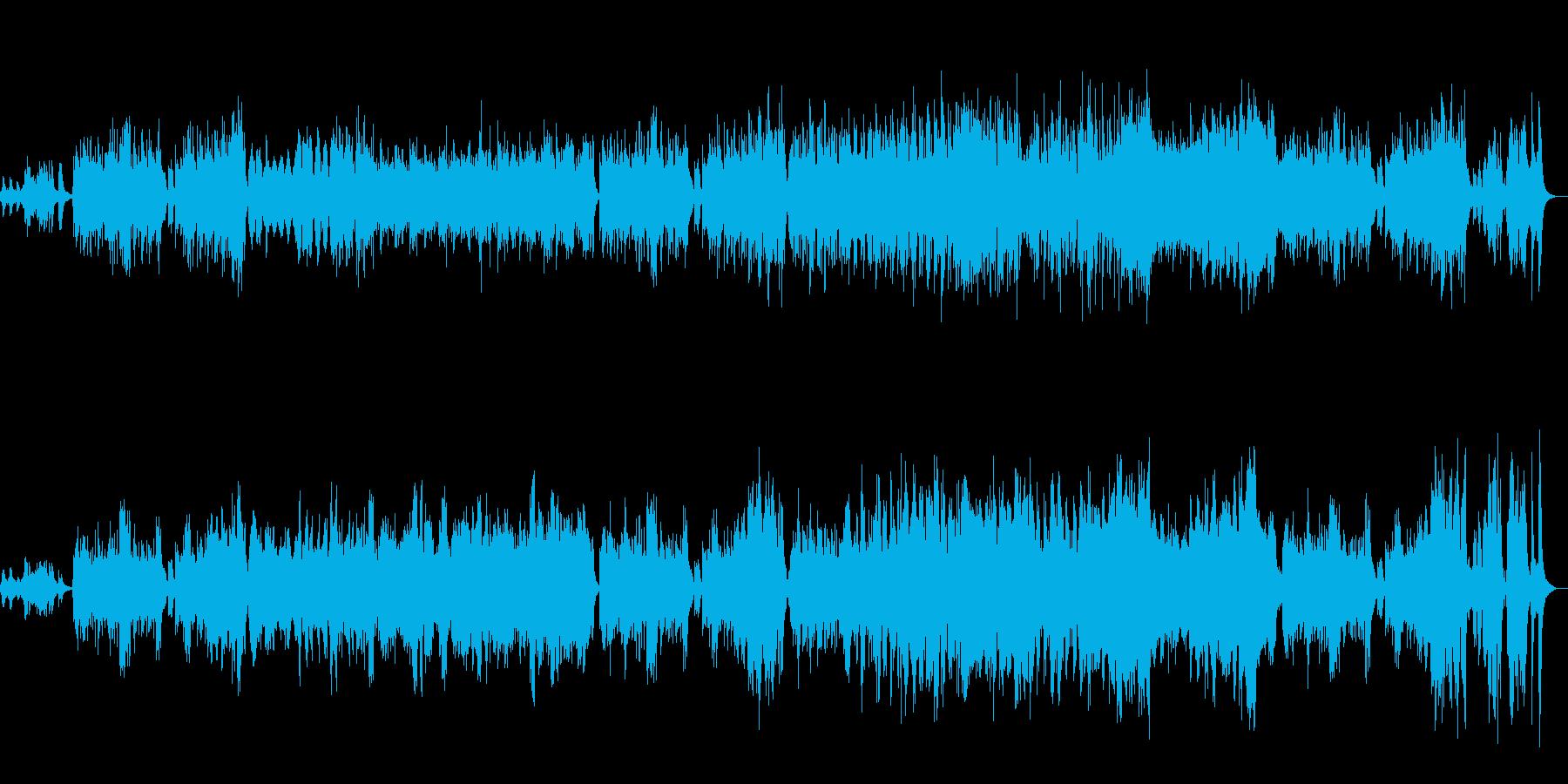 メルヘンチックのワルツの再生済みの波形