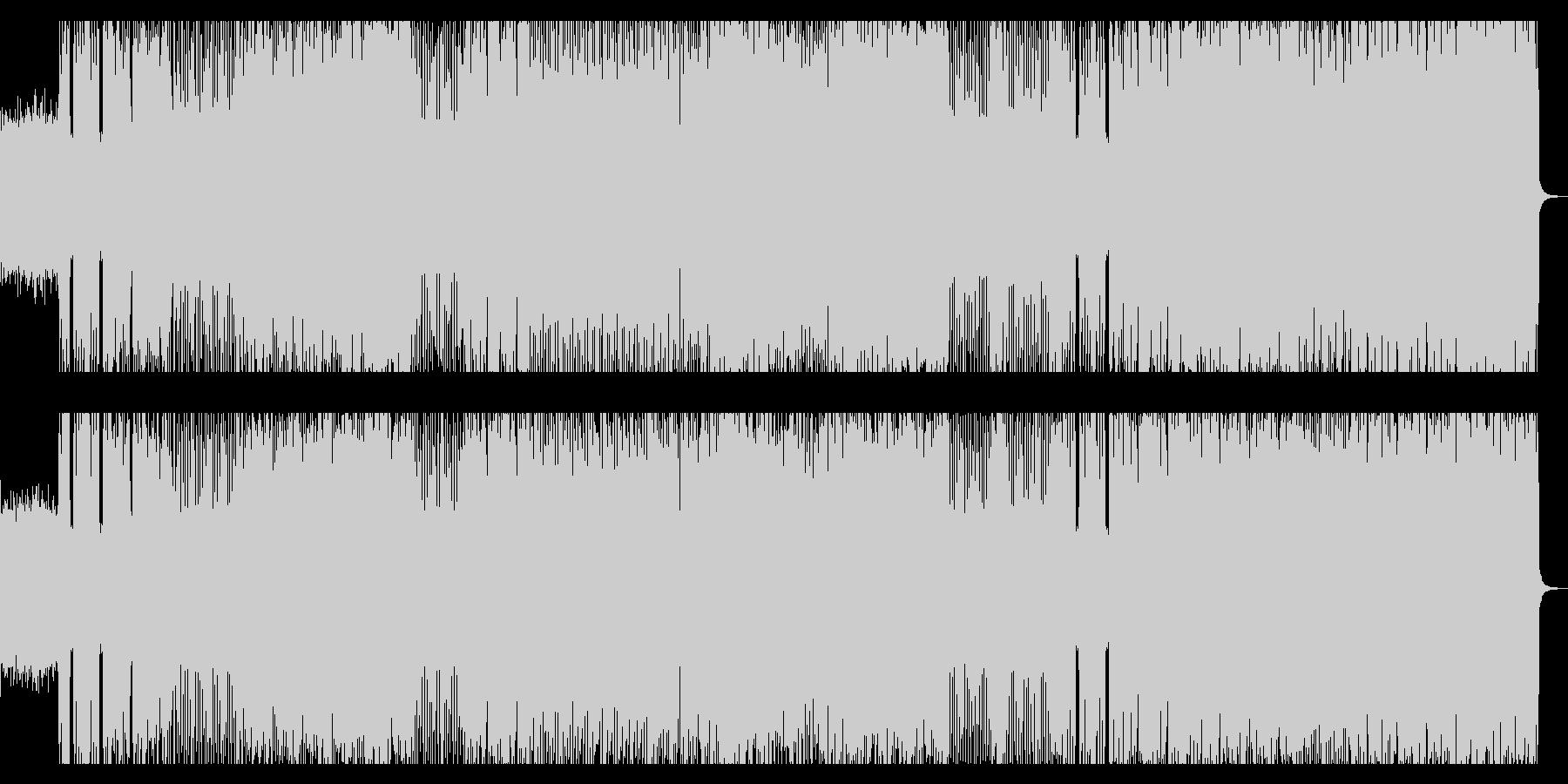 メタル、ハードロック風の重く激しいロックの未再生の波形