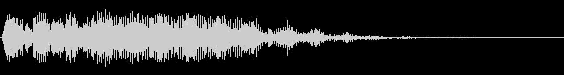 シンセサイザーの空間的なストリング音の未再生の波形